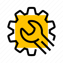 cog, fix, gear, repair, setup, wrench icon
