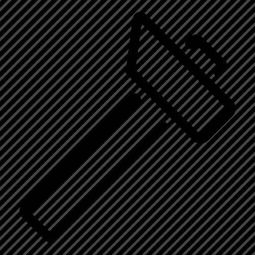 hammer, impact, work icon