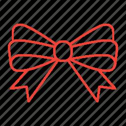 bow, decoration, ribbon icon