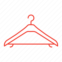clothes, hanger, sewing icon