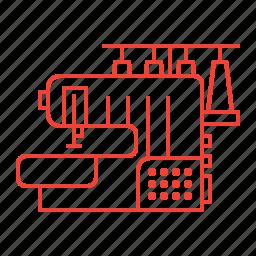 machine, overlock, sewing icon