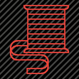 ribbon, sewing icon