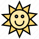 accessory, cloth, fashion, sticker, sun icon
