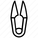 cutter, metal tool, pincer, scissor, thread clipper, thread scissor icon