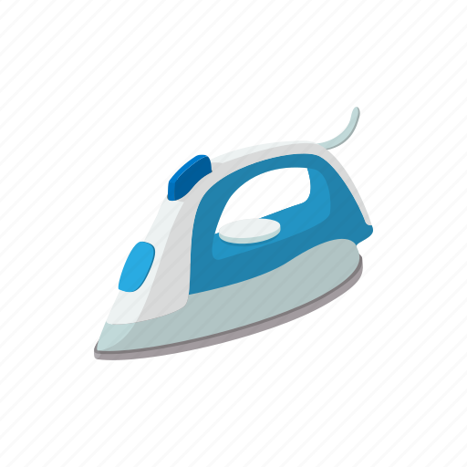 appliance, cartoon, electrical, household, iron, steam, tool icon