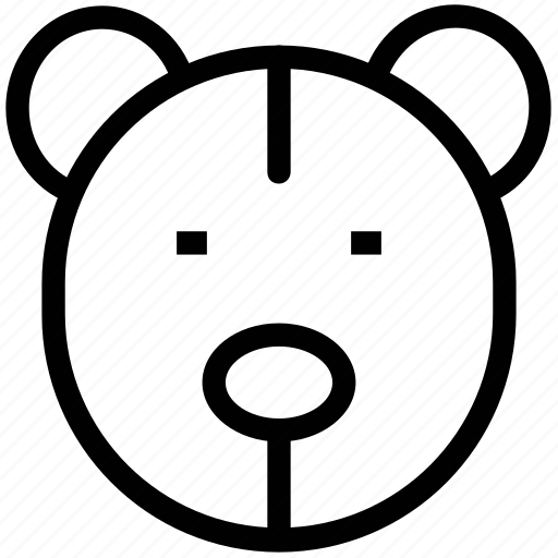 bear face, stuffed toy, teddy, teddy bear, teddy face icon