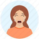 avatar, crying, cute, emotion, expression, girl, woman