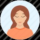 avatar, cute, emotion, expression, girl, sleepy, woman