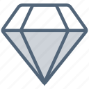 crystal, diamond, gem, gemstone, jewelry, stone icon