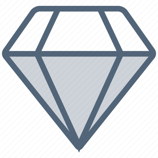 crystal, diamond, gem, gemstone, jewelry, stone icon