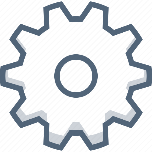control, gear, settings, system icon