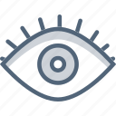 eye, look, makeup, open eye icon