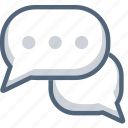 booble, bubble, chat, dialogue, discussion, message icon