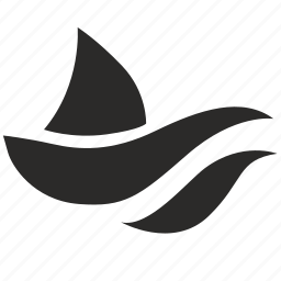 fin, sea, shark, wave icon