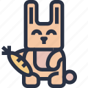 animal, colored, rabbit, sharp edge