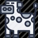 animal, colored, cow, sharp edge