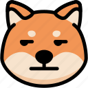 annoying, emoji, emotion, expression, face, feeling, shiba icon