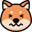 confounded, emoji, emotion, expression, face, feeling, shiba icon