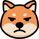 emoji, emotion, expression, face, feeling, mad, shiba icon