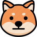 emoji, emotion, expression, face, feeling, neutral, shiba icon