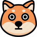 emoji, emotion, expression, face, feeling, shiba, stunning icon