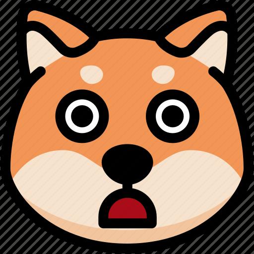 emoji, emotion, expression, face, feeling, shiba, stunning icon
