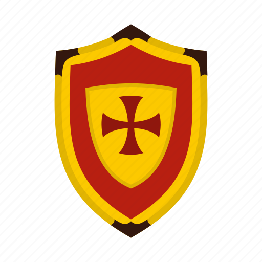 Brave, cross, danger, defense, hilt, iron, shield icon - Download on Iconfinder