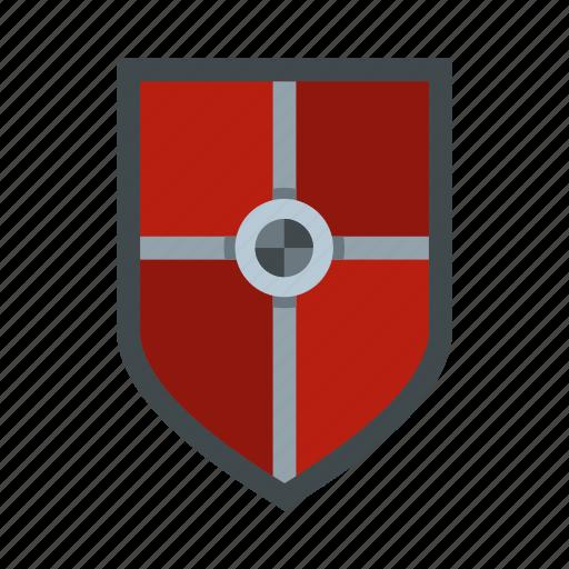 brave, danger, defense, fight, hilt, iron, shield icon