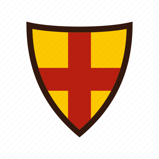 brave, danger, defense, hilt, iron, protection, shield icon
