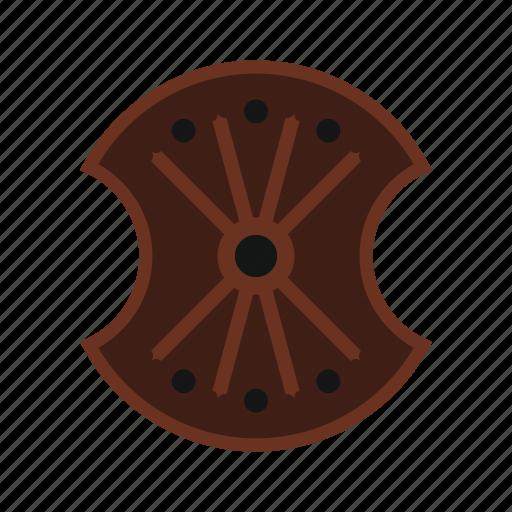 Brave, danger, defense, hilt, iron, shield, wooden icon - Download on Iconfinder