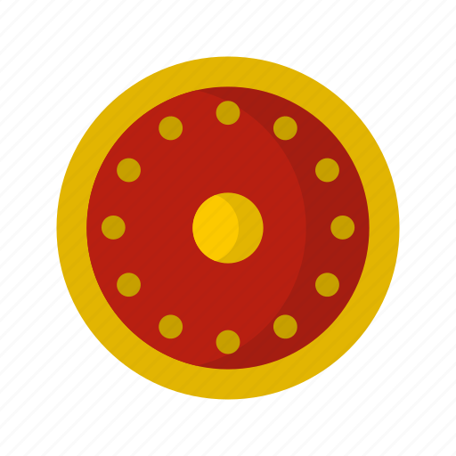 Danger, defense, hilt, iron, military, round, shield icon - Download on Iconfinder