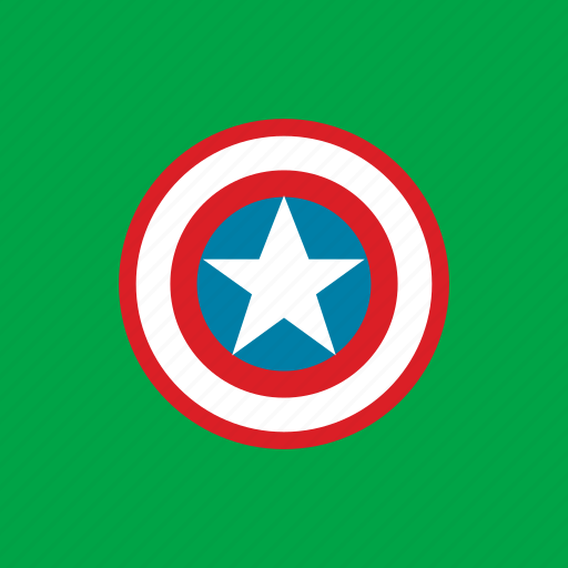 american, shield, star icon