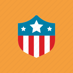 american, guard, shield, star icon