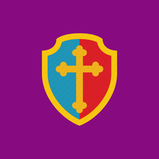 cross, guard, protection, shield icon
