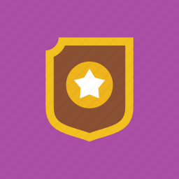 guard, protection, shield, star icon