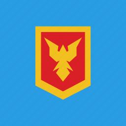 bird, guard, protection, shield icon