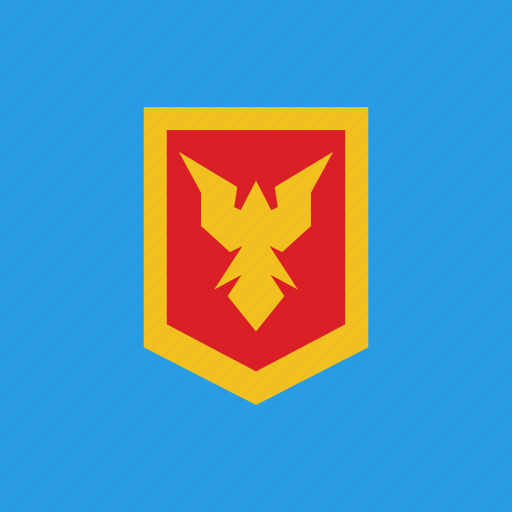 bird, guard, protection, shield icon