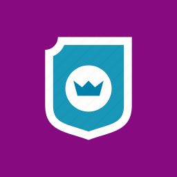 crown, guard, protection, shield icon