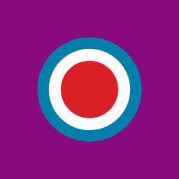 bullseye, rounded, shape, shield icon