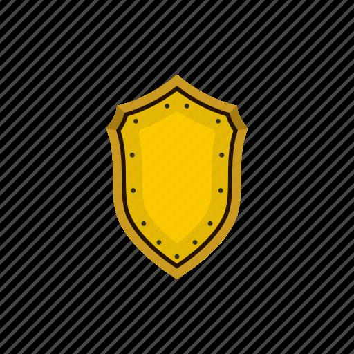 gold, heraldic, medieval, protection, retro, security, shield icon