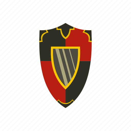 heraldic, medieval, protection, retro, security, shield, weapon icon