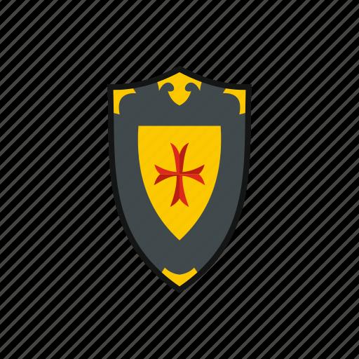 antique, cross, heraldic, medieval, shield, sword, war icon