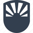 secure, sun, safe, protection, safety, sunset, security, insurance, shield icon