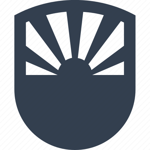 insurance, protection, safe, safety, secure, security, shield, sun, sunset icon