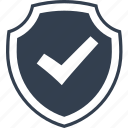 good, secure, check, safe, mark, protection, safety, security, insurance, shield icon