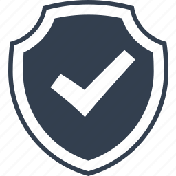 check, good, insurance, mark, protection, safe, safety, secure, security, shield icon