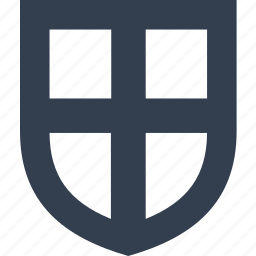 cross, insurance, protection, safe, safety, secure, security, shield icon