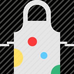 apron, artistic, cloth, colors icon