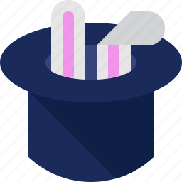 ears, hat, magic, rabbit icon