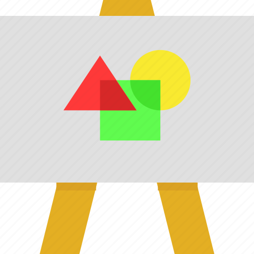 Board, geometry, painting, shapes, wooden icon - Download on Iconfinder